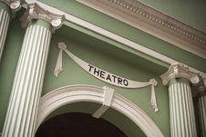 Main Portico To Dom Pedro V Theater Royalty Free Stock Image