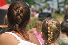 The Braid Of Mother And Daughter Royalty Free Stock Images