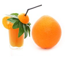 Orange Juice & Orange Stock Photo