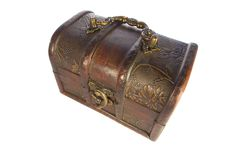 Free Closed Treasure Chest Isolated Royalty Free Stock Image - 14569726
