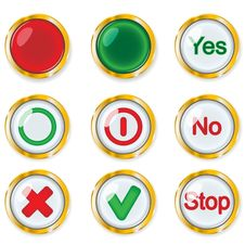 Free Buttons Stock Image - 14569861