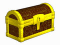Free Chest Fettered By Gold Royalty Free Stock Images - 14573719