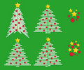 Free Christmas Trees Vector Royalty Free Stock Images - 14574009