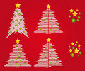 Free Christmas Trees Vector Royalty Free Stock Photo - 14574035