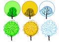 Free Stylized Seasonal Tree Stock Images - 14575104