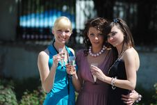 Free Three Young Women Stock Photography - 14570102