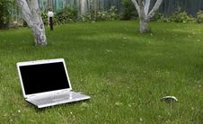 Free Laptop In Nature Royalty Free Stock Image - 14570296