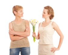 Free Mother And Daughter Royalty Free Stock Image - 14570356