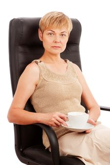 Free Woman With Cup Of Coffee/tea Stock Photos - 14570363