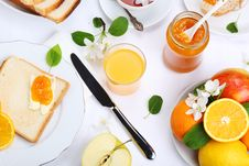 Breakfast On A White Background Stock Photography