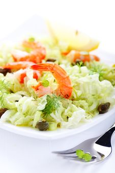 Free Salad With Shrimp And Capers Stock Photo - 14570820