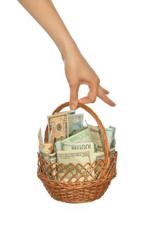 Free Basket Of Currencies Royalty Free Stock Images - 14570989