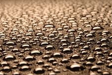 Beautiful Drops Of Water Stock Photo