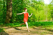 Girl Jogging Stock Photography