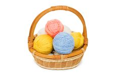 Free Ball Of Threads In A Basket Stock Photo - 14572330