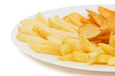 Free Potato Free On Plate Isolated Over White Royalty Free Stock Photo - 14572675