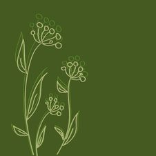 Free Vintage Floral Wallpaper Royalty Free Stock Photo - 14573045