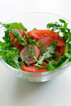 Free Healthy Vegetable Salad Royalty Free Stock Photography - 14573227