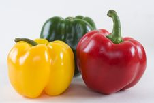 Fresh Bell Peppers Stock Images