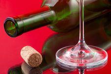 Free Wineglass,cork And Bottle Stock Photo - 14573360