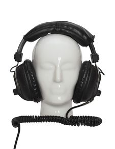 Free Porcelin Human Head With Headphones Stock Images - 14574084