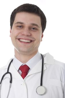 Free Smiling Medical Doctor With Stethoscope Stock Image - 14574101