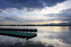 Free Boats On The Kunming Lake At Dusk, Beijing Royalty Free Stock Images - 14574209