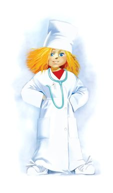 Free Little Girl In Doctor Robe Stock Photos - 14574433