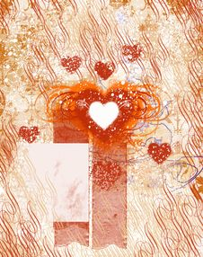 Free Background With Heart Royalty Free Stock Image - 14575066