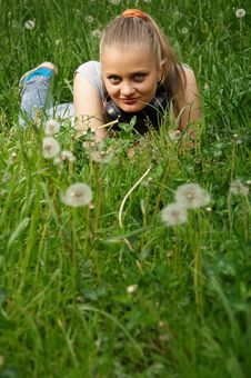 Free Girl On Meadow Stock Photo - 14575110