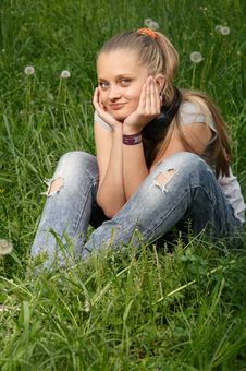 Free Girl On Meadow Stock Photo - 14575210