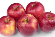 Ripe Red Apples And Pears Fruit Stock Photos