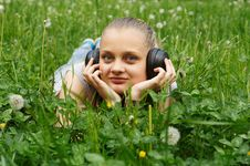Free Girl On Meadow Royalty Free Stock Photos - 14575708