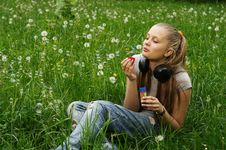 Free Girl On Meadow Royalty Free Stock Photos - 14575968