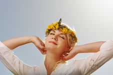 Free Woman With A Butterfly Stock Photos - 14576633