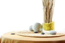 Interior Decoration With Zen Ambiance Stock Images