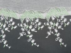 Lace Decorated By Pattern And Decorative Flover Royalty Free Stock Images