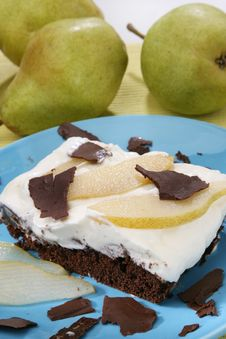 Chocolate Pear Cake Royalty Free Stock Photography