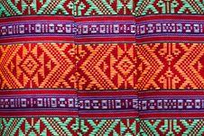 Free Patterns Of Native Thai Textiles Stock Photo - 14577340