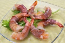 Free Shrimps Rolled In Prosciutto Stock Photo - 14577630