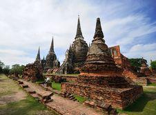 Free Ayudhaya Temple Stock Image - 14577871