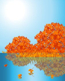 Free Autumnal Lake Royalty Free Stock Photo - 14578185