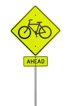 Bike Crossing Sign Stock Photos
