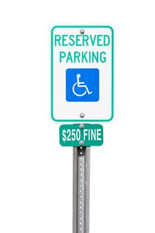Handicap Reserved Parking Sign Stock Photo