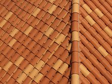 Rustic Roof Tiles, Background Royalty Free Stock Image