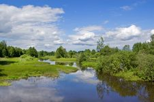 Free The Small River Sherna, Russia Royalty Free Stock Photography - 14579137