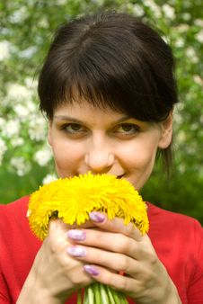 Free Girl With Dandelions Royalty Free Stock Photography - 14579547