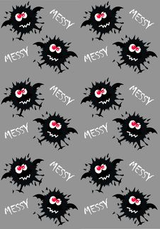 Free Monster Pattern Royalty Free Stock Photo - 14579555