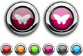 Free Butterfly Button. Stock Photo - 14580850