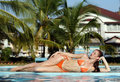 Free Woman In Swimming Pool Royalty Free Stock Images - 14583039